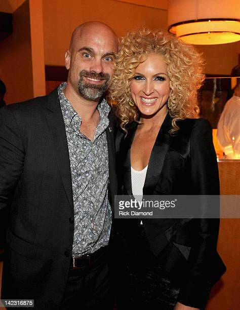 Musician Kimberly Schlapman of Little Big Town and Stephen Schlapman attend the Capitol Records Nashville ACM after party held at Aureole at the...