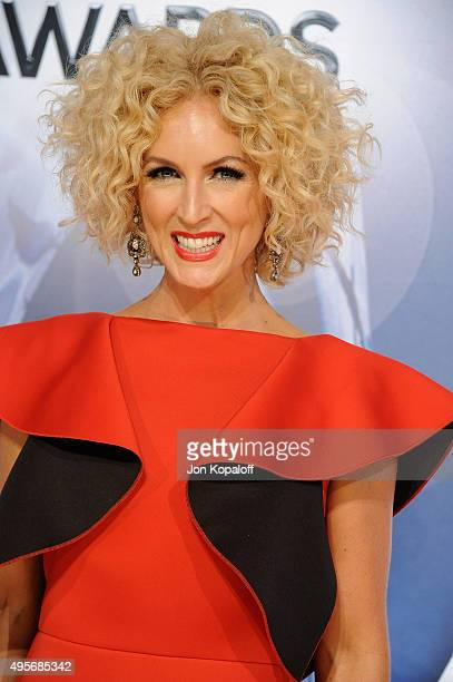 Musician Kimberly Schlapman of Little Big Town attends the 49th annual CMA Awards at the Bridgestone Arena on November 4 2015 in Nashville Tennessee
