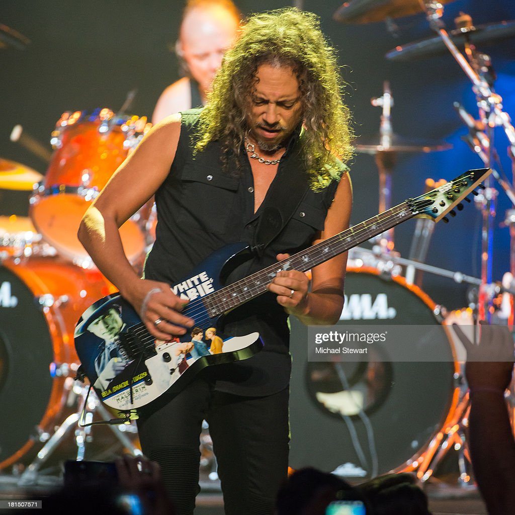 Musician Kirk Hammett of Metallica performs at a private exclusive concert for SiriusXM listeners at The Apollo Theater on September 21, 2013 in New York City.
