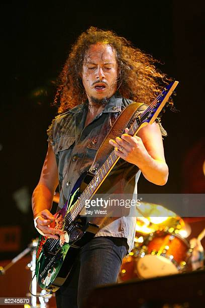 Musician Kirk Hammett of Metallica performs at Ozzfest 2008 at the Pizza Hut Park on August 9, 2008 in Frisco, Texas.