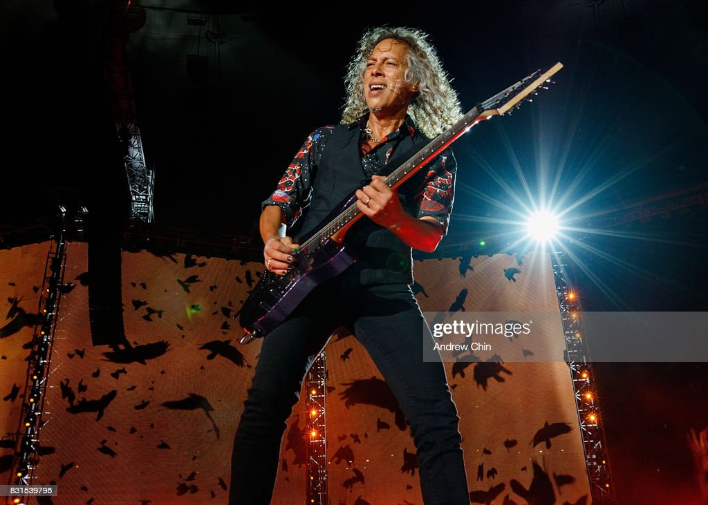 Musician Kirk Hammett of Metallica performs on stage at BC Place on August 14, 2017 in Vancouver, Canada.