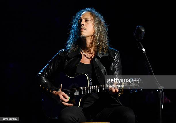 Musician Kirk Hammett of Metallica performs onstage at the 10th annual MusiCares MAP Fund Benefit Concert to raise funds for MusiCares' addiction...