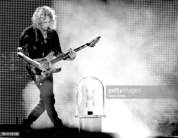 Musician Kirk Hammett of Metallica performs onstage at the Rose Bowl on July 29, 2017 in Pasadena, California.