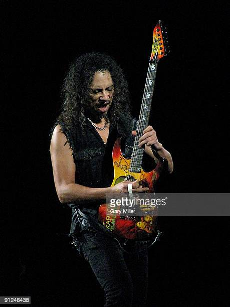 Musician Kirk Hammett performs in concert with Metallica at the AT&T Center on September 28, 2009 in San Antonio, Texas.