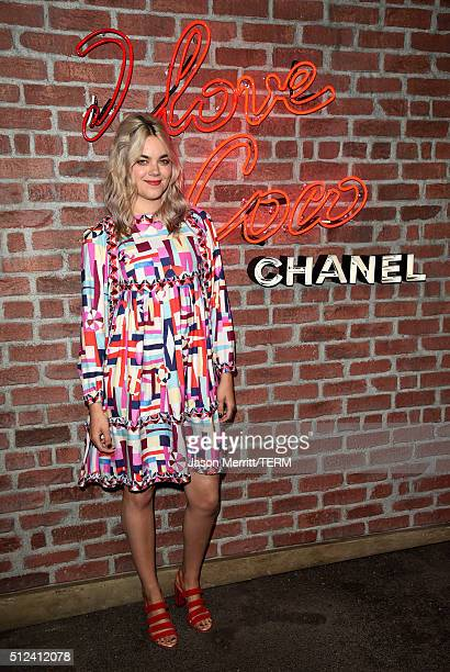 Musician Klara Söderberg attends the I Love Coco Backstage Beauty Lounge at Chateau Marmont's Bar Marmont on February 25 2016 in Hollywood California