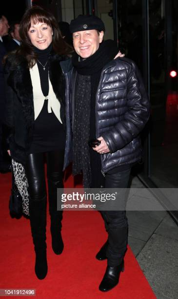 Musician Klaus Meine singer from the band Scorpions and his wife Gabi arrive to the charity dinner held by 'Musik Hilft' at GrillRoyal...
