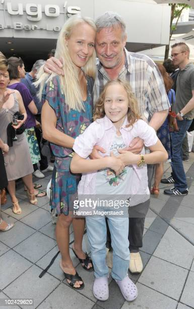 Musician Konstantin Wecker his wife Annik and son Tamino attend the Agencies Cocktail during the Munich Film Festival on June 26 2010 in Munich...