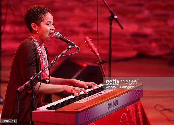 Musician Kori Withers performs at the 2009 Los Angeles Film Festival's Soul Power Music by Kori Withers at the John Anson Ford Amphitheatre on June...