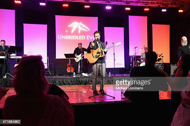 Musician Kris Allen performs onstage during the 141st Kentucky Derby Unbridled Eve Gala at Galt House Hotel Suites on May 1 2015 in Louisville...