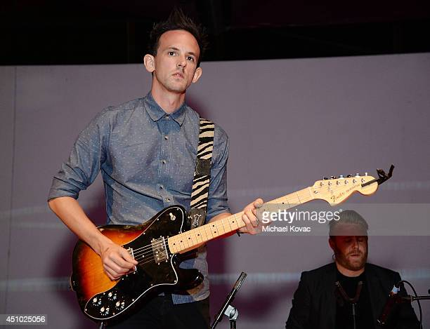 Musician Kris Kovacs of musical group 'Deluka' performs onstage at the 'More Than a Cone' art auction and campaign launch benefiting Best Friends...
