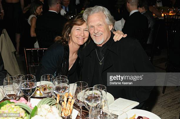 Musician Kris Kristofferson and Lisa Kristofferson attend The Film Society of Lincoln Center's 40th Chaplin Award Gala supported by Grey Goose vodka...