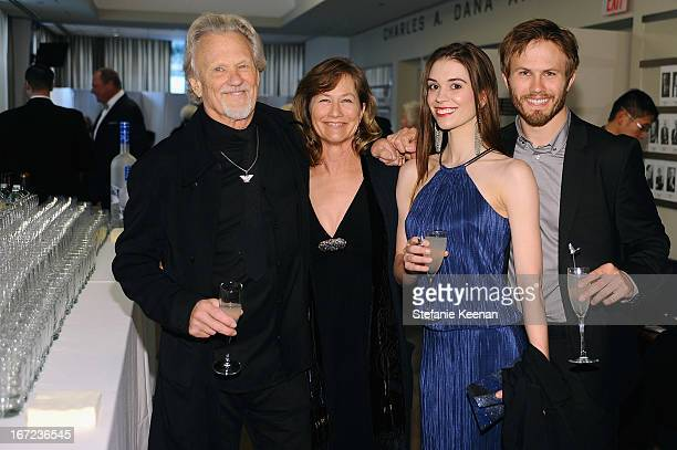 Musician Kris Kristofferson, Lisa Kristofferson, Kimberly Alexander and Jesse Kristofferson attend the Grey Goose cocktail reception of The Film...