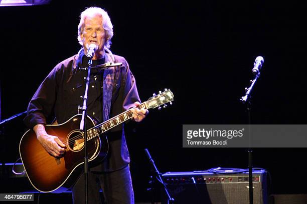 Musician Kris Kristofferson performs at the A Song Is Born 16th Annual GRAMMY Foundation Legacy Concert held at The Wilshire Ebell Theatre on January...
