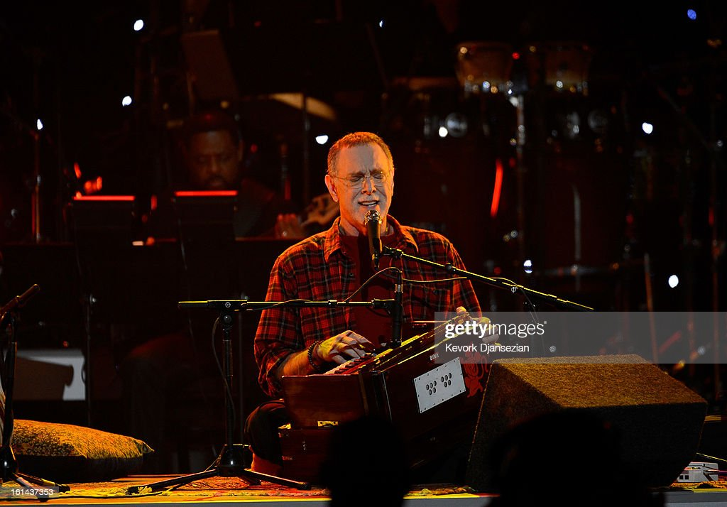 Musician Krishna Das performs onstage at the The 55th Annual GRAMMY Awards at Staples Center on February 10, 2013 in Los Angeles, California.