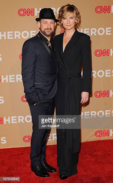 Musician Kristian Bush and singer Jennifer Nettles of Sugarland arrive at the 4th Annual CNN Heroes: An All Star Tribute at The Shrine Auditorium on...