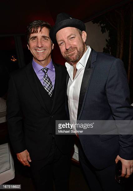 Musician Kristian Bush of Sugarland and guest attend the 2013 TCM Classic Film Festival Vanity Fair Opening Night Party at Boulevard3 on April 25...