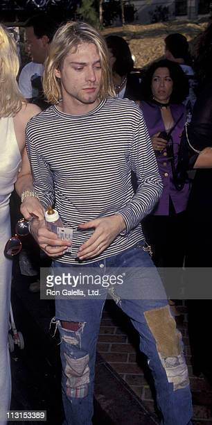 Musician Kurt Cobain attends 10th Annual MTV Video Music Awards on September 2 1993 at the Universal Ampitheater in Universal City California