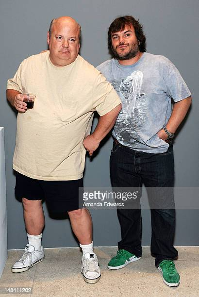Musician Kyle Gass and actor Jack Black of Tenacious D attend Ghost Town A Party and Art Exhibition to Benefit The Venice Family Clinic at LM Arts on...