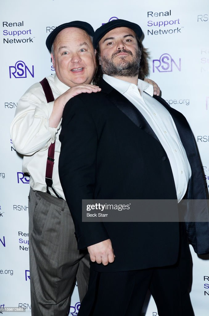 Musician Kyle Gass and actor/musician Jack Black arrive at 14th Annual RSN's Renal Teen Prom at Notre Dame High School on January 20, 2013 in Sherman Oaks, California.
