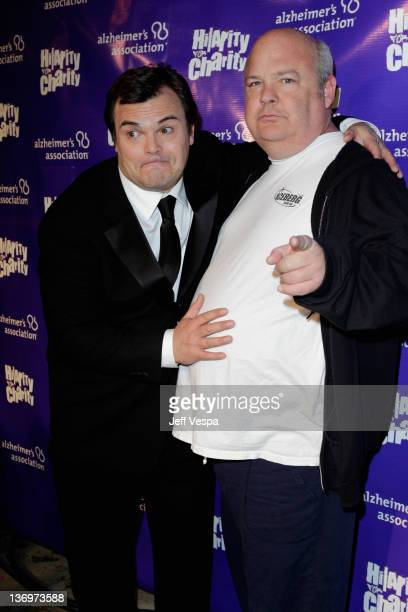 """Musician Kyle Gass and comedian Jack Black attend """"Hilarity For Charity"""" To Benefit The Alzheimer's Association at Vibiana on January 13, 2012 in Los..."""