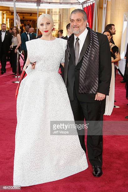 Musician Lady Gaga and Joe Germanotta attend the 87th Annual Academy Awards at Hollywood Highland Center on February 22 2015 in Hollywood California