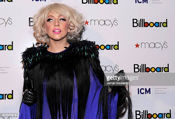 Musician Lady Gaga arrieves at Billboard's 4th Annual Women In Music event at The Pierre Hotel on October 2 2009 in New York City