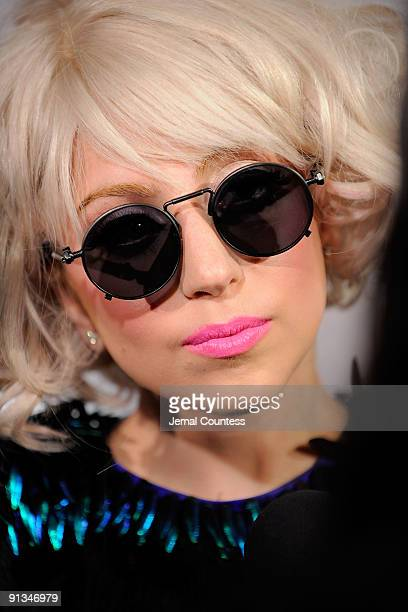Musician Lady Gaga arrives at Billboard's 4th Annual Women In Music event at The Pierre Hotel on October 2 2009 in New York City