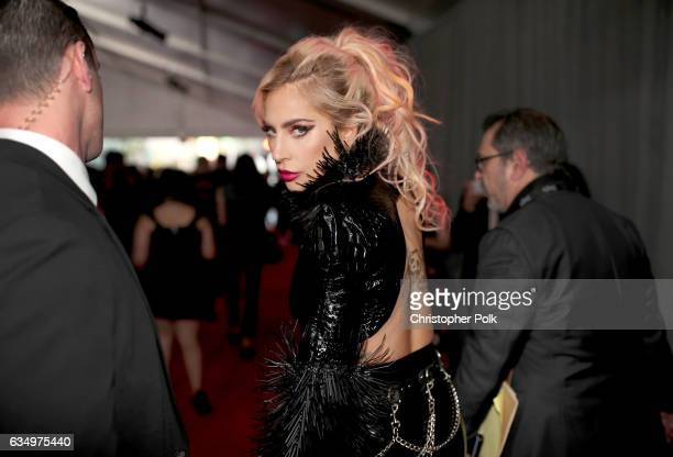 Musician Lady Gaga attends The 59th GRAMMY Awards at STAPLES Center on February 12 2017 in Los Angeles California