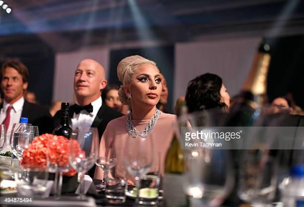 Musician Lady Gaga attends the amfAR Inspiration Gala at Milk Studios on October 29 2015 in Hollywood California