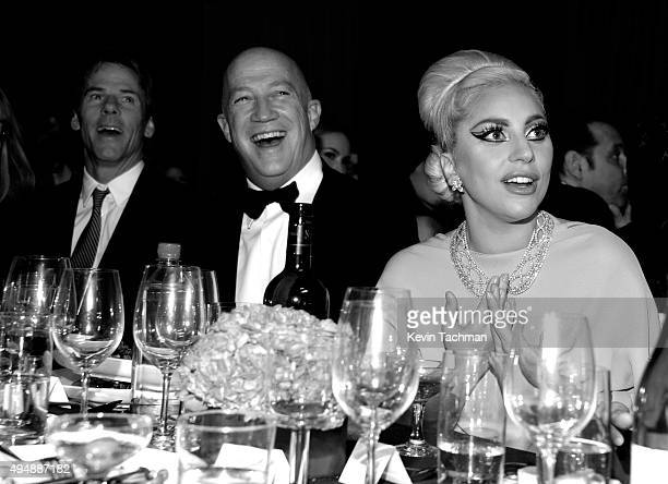 Musician Lady Gaga attends the amfAR Inspiration Gala at Milk Studios on October 29 2015 in Hollywood California