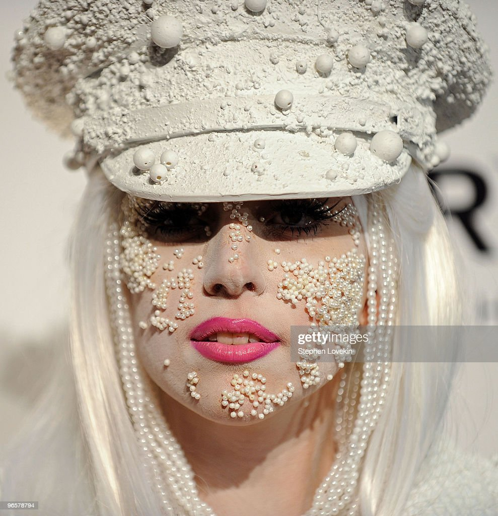 Musician Lady Gaga attends the amfAR New York Gala co-sponsored by M.A.C Cosmetics at Cipriani 42nd Street on February 10, 2010 in New York, New York.