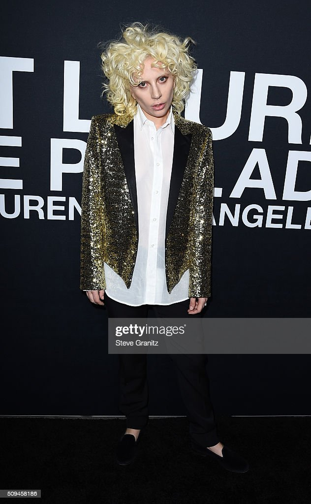 Musician Lady Gaga attends the Saint Laurent show at The Hollywood Palladium on February 10, 2016 in Los Angeles, California.