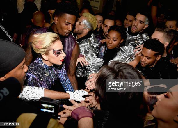 Musician Lady Gaga backstage before the Pepsi Zero Sugar Super Bowl LI Halftime Show at NRG Stadium on February 5, 2017 in Houston, Texas.