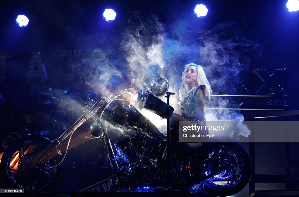 Musician Lady Gaga performs onstage at the iHeartRadio Music Festival held at the MGM Grand Garden Arena on September 24, 2011 in Las Vegas, Nevada.