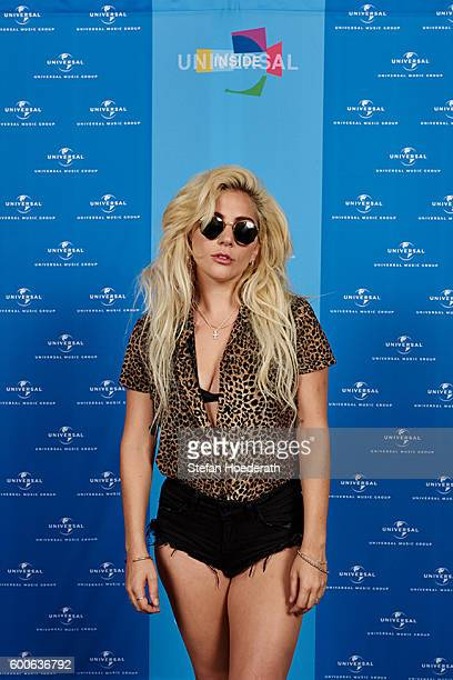 Musician Lady Gaga poses for a photo during Universal Inside 2016 organized by Universal Music Group at MercedesBenz Arena on September 8 2016 in...