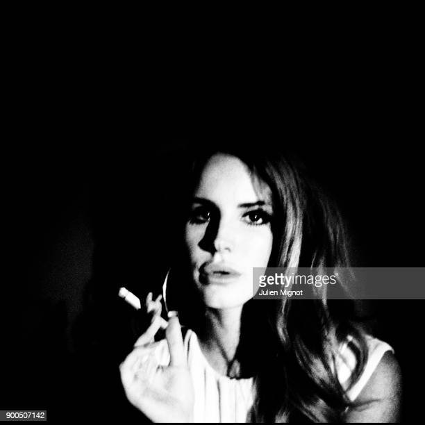 Musician Lana Del Rey is photographed for Self Assignment on October 2011 in Paris France