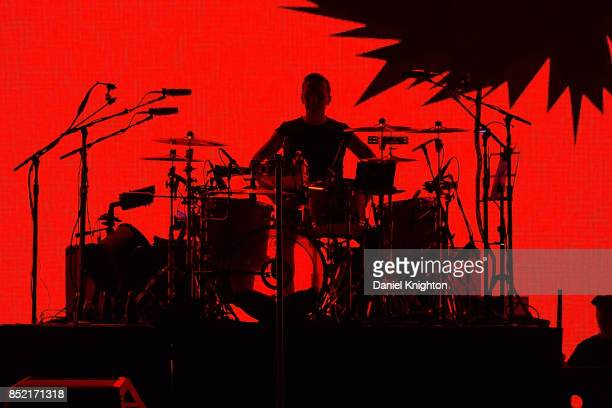 Musician Larry Mullen Jr of U2 performs on stage on the final night of U2 The Joshua Tree Tour 2017 at SDCCU Stadium on September 22 2017 in San...