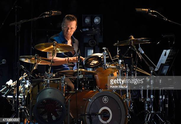 Musician Larry Mullen Jr of U2 performs onstage during the U2 iNNOCENCE eXPERIENCE tour opener in Vancouver at Rogers Arena on May 14 2015 in...