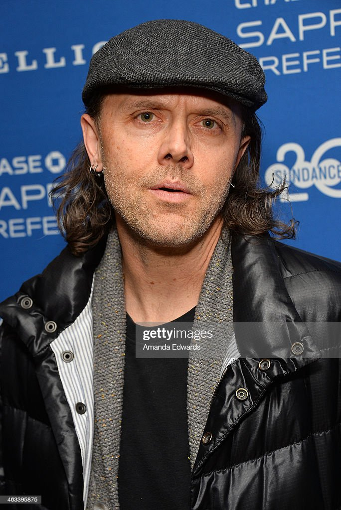 Musician Lars Ulrich arrives at the 'Hellion' premiere party at Chase Sapphire on January 17, 2014 in Park City, Utah.