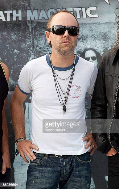 Musician Lars Ulrich of Metallica attends a press conference ahead of their concert at Foro Sol on June 4 2009 in Mexico City Mexico