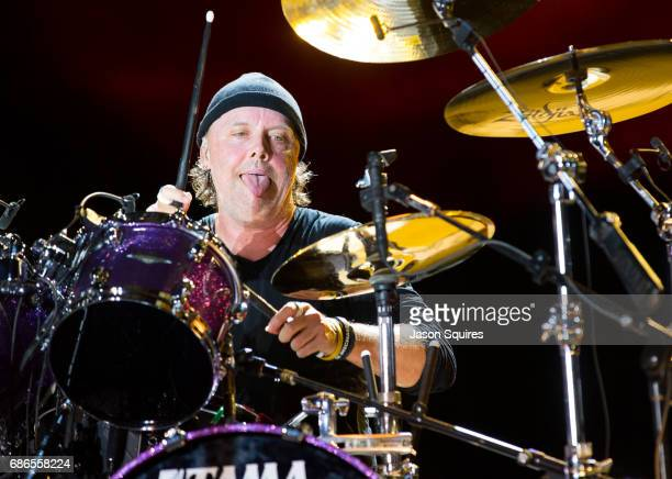 Musician Lars Ulrich of Metallica performs at MAPFRE Stadium on May 21 2017 in Columbus Ohio