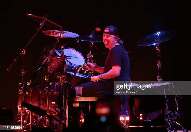 Musician Lars Ulrich of Metallica performs at Sprint Center on March 6 2019 in Kansas City Missouri
