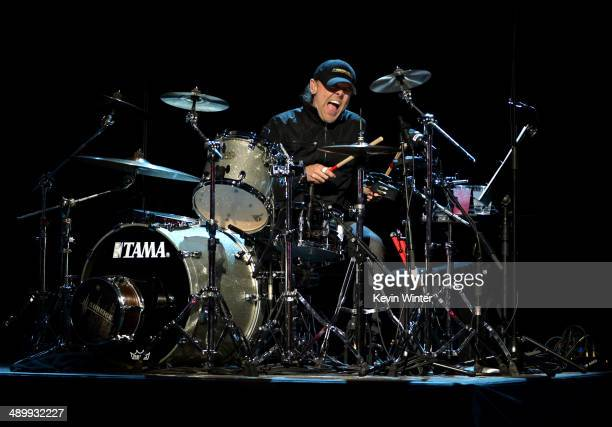 Musician Lars Ulrich of Metallica performs onstage at the 10th annual MusiCares MAP Fund Benefit Concert to raise funds for MusiCares' addiction...