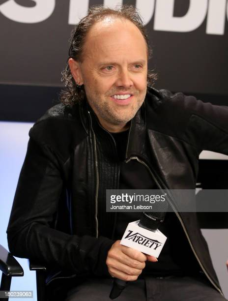 Musician Lars Ulrich speaks at the Variety Studio presented by Moroccanoil at Holt Renfrew during the 2013 Toronto International Film Festivalon...