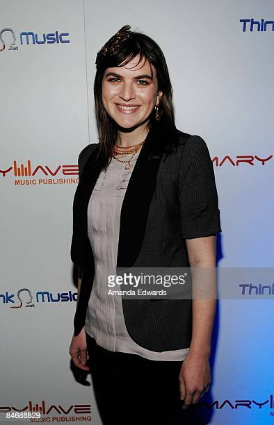 Musician Laura Warshauer attends the Primary Wave Music Publishing preGrammy party at SLS Hotel on February 7 209 in Los Angeles California