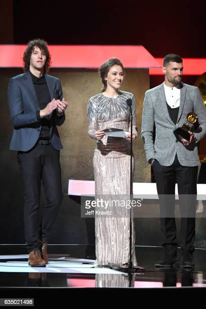 Musician Lauren Daigle speaks onstage onstage at the Premiere Ceremony during the 59th GRAMMY Awards at Microsoft Theater on February 12 2017 in Los...