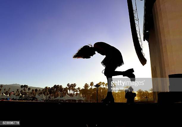 Musician Lauren Mayberry of Chvrches performs onstage during day 2 of the 2016 Coachella Valley Music Arts Festival Weekend 2 at the Empire Polo Club...