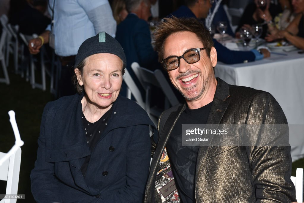 Musician Laurie Anderson and actor Robert Downey Jr. attend The 24th Annual Watermill Center Summer Benefit & Auction at The Watermill Center on July 29, 2017 in Water Mill, New York.