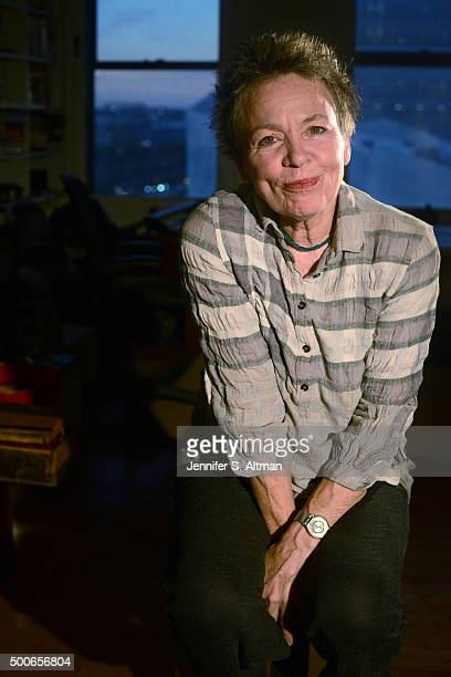 Musician Laurie Anderson is photographed for Los Angeles Times on October 29 2015 in New York City