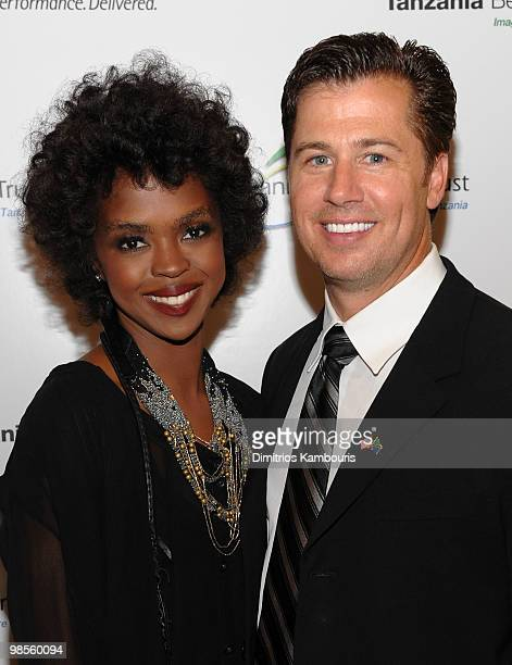 Musician Lauryn Hill and Goodwill Ambassador Doug Pitt attend the Tanzania Education Trust New York Gala hosted by President Jakaya Kikwete of the...